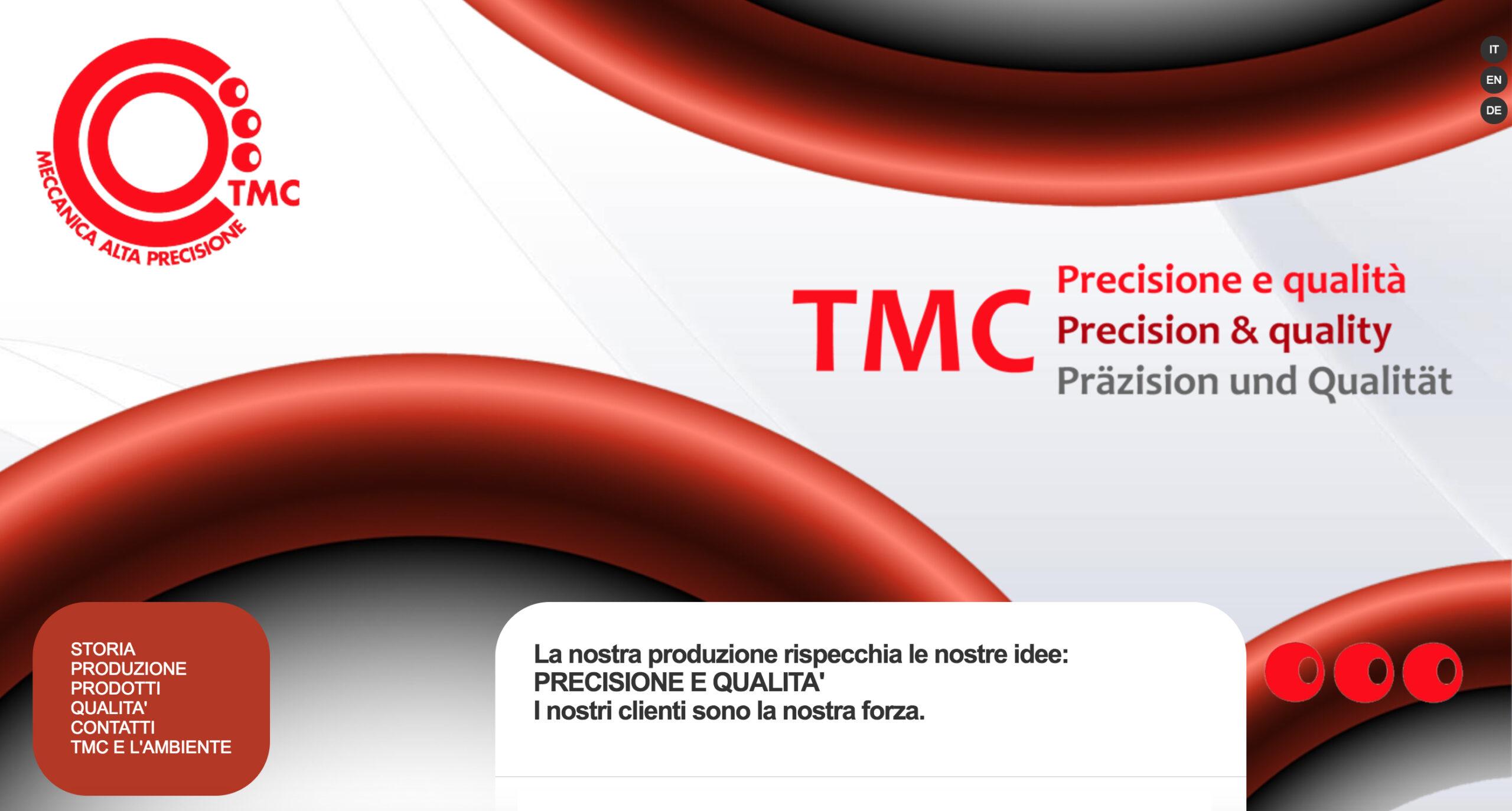 Web Design, Social, Net - Hw - Sw maintenance & management per TMC Srl, meccanica di alta precisione